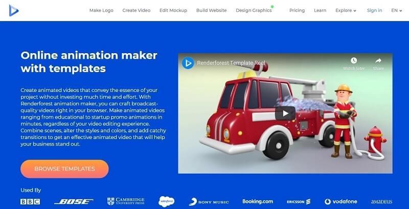 RenderForest Animated Video Maker