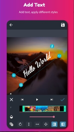 app to add text to video - AndroVid