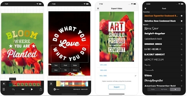 app to add text to video - Vont