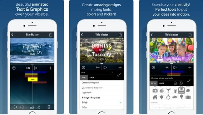app to add text to video - Title Master