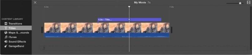 edit titles imovie step 2