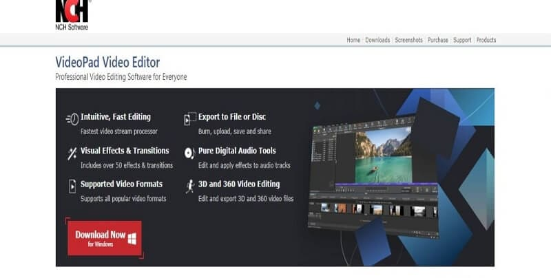 NCH Video Pad iMovie Alternative
