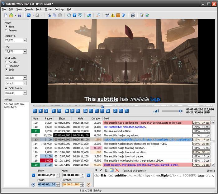 video subtitle editor 4
