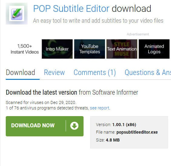 video subtitle editor 5