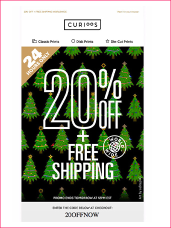 Seasonal Promotions Emails