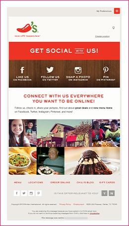 Social Engagement Emails