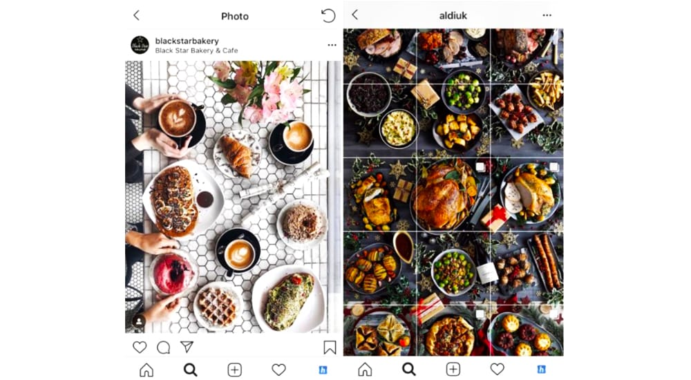 food marketing Instagram