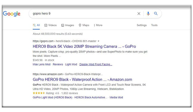 gopro search result
