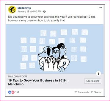 b2b social media marketing example