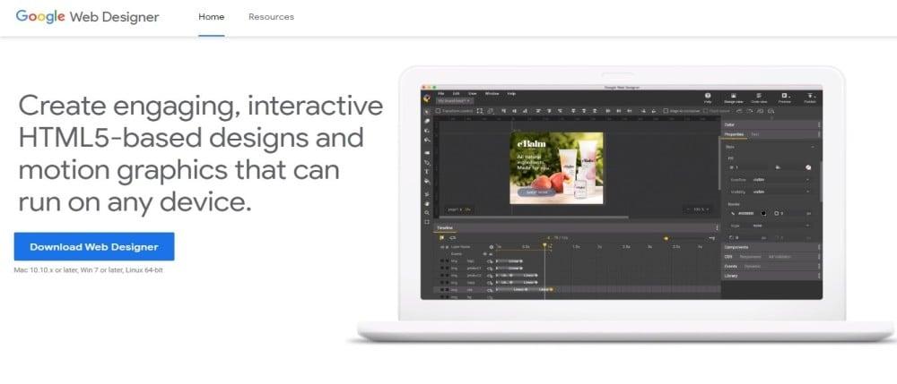 Google Web Designer Video Animation Tool.