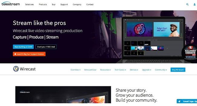 Wirecast Marketing Video Maker.
