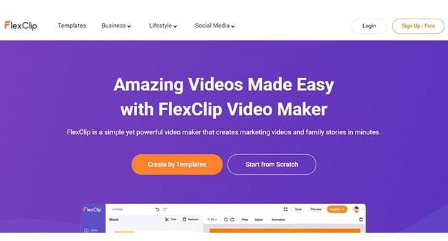 Flexclip Marketing Video Maker.