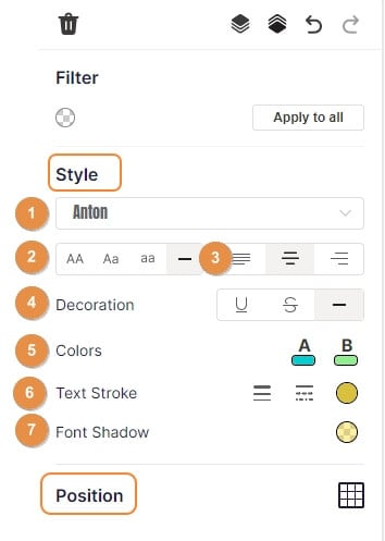customize text