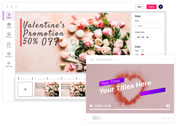 valentine's day video template