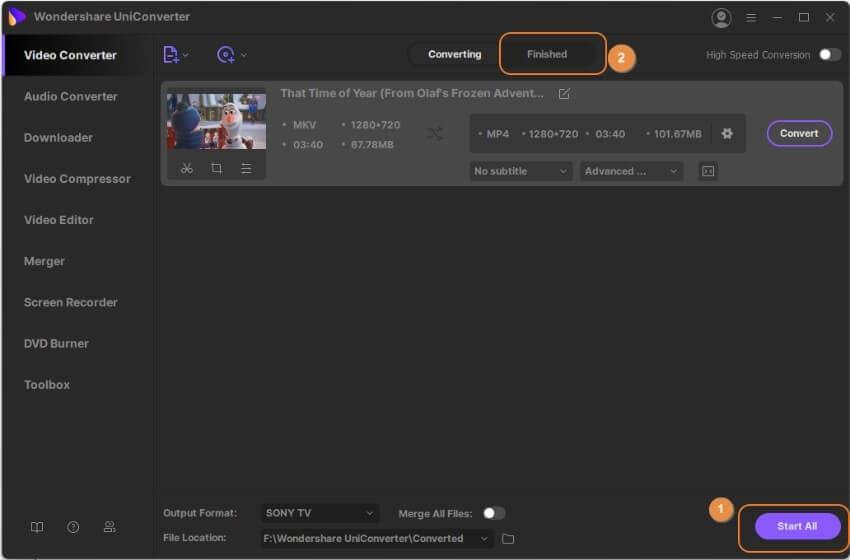 Convert MKV to Sony Bravia TV