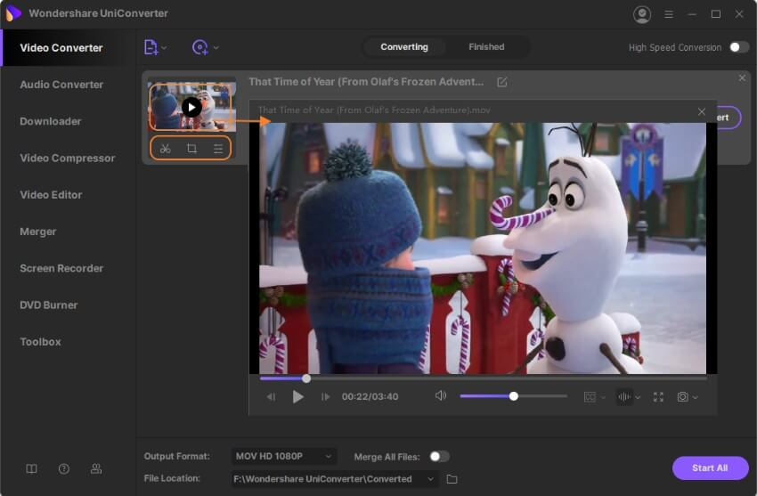 edit and play MOV videos