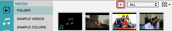 Importieren Sie das MP4 Video um die Auflösong zu ändern