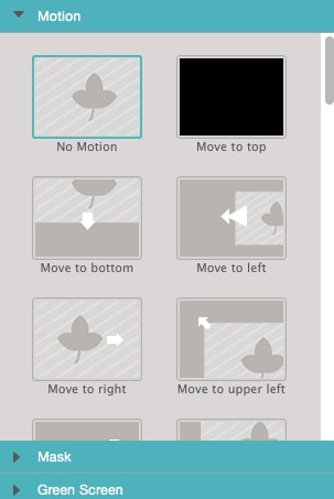 apply motion to overlay clip