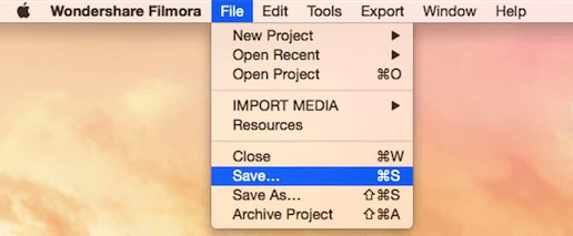 save a project