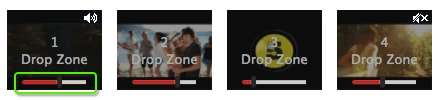 drag media file to drop zone