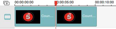 Platzieren Sie die gewünschte Datei in die Videospur um Sie zu bearbeiten
