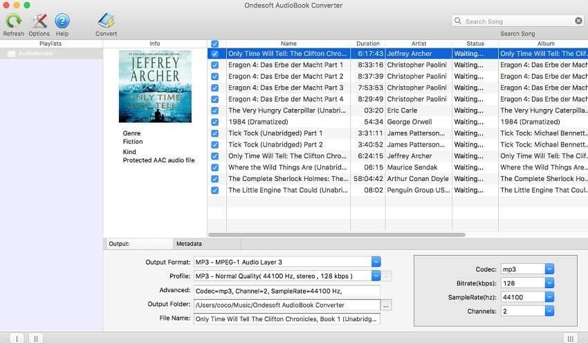 Ondesoft Audiobook Converter