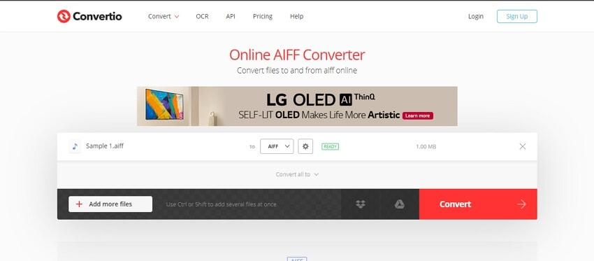 Online AIFF Convetrer - Convertio
