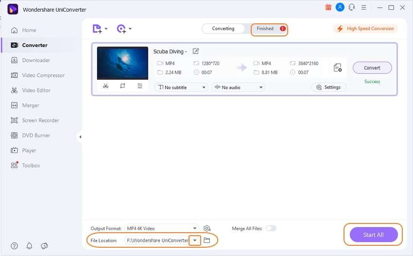 convert video to 4k