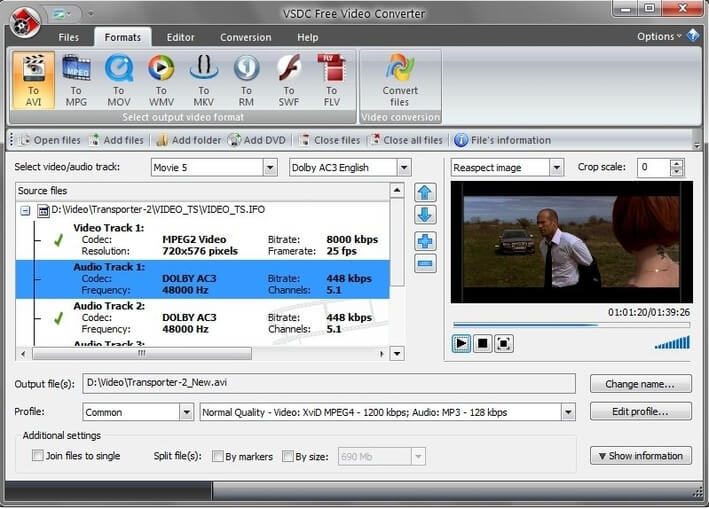 Convert FLAC to WAV with Movavi Video Converter