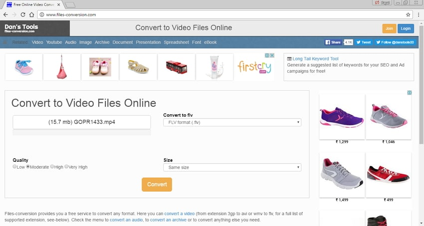 online MP4 to FLV converters - File Conversion