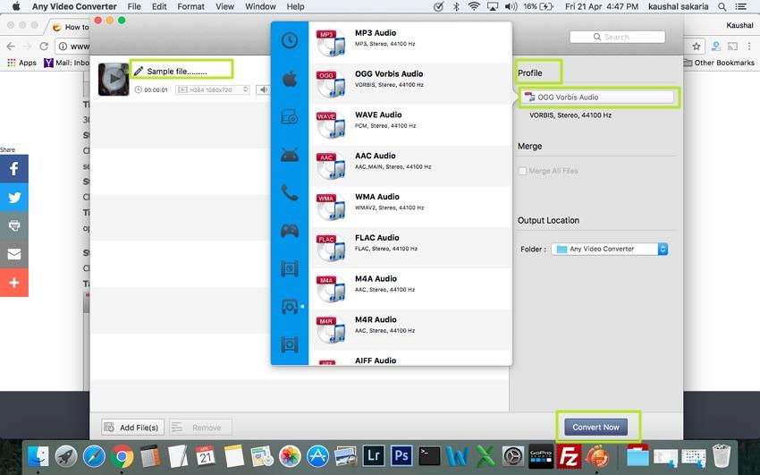 Convert MP4 to OGG on Mac - Free Desktop MP4 to OGG Converter
