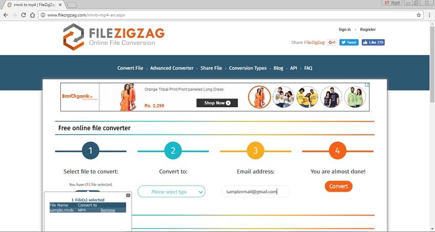 Convert RMVB/RM to MP4 Online - FileZigZag