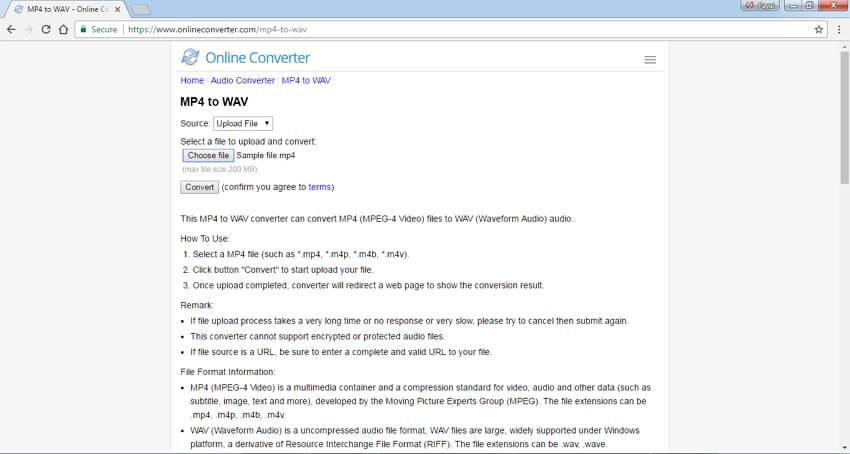 MP4 to WAV Converters Online - Online Converter