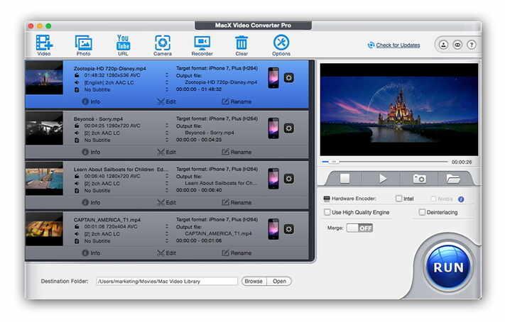MacX Video Converter Pro - compress camcorder video
