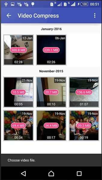 Video Compress - video size reducer for android