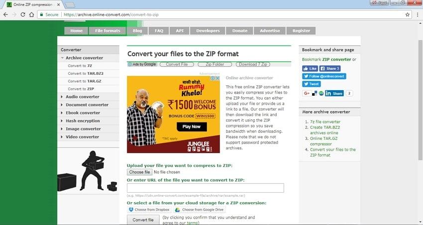 Online Convert - Online MP3 Size Reducers