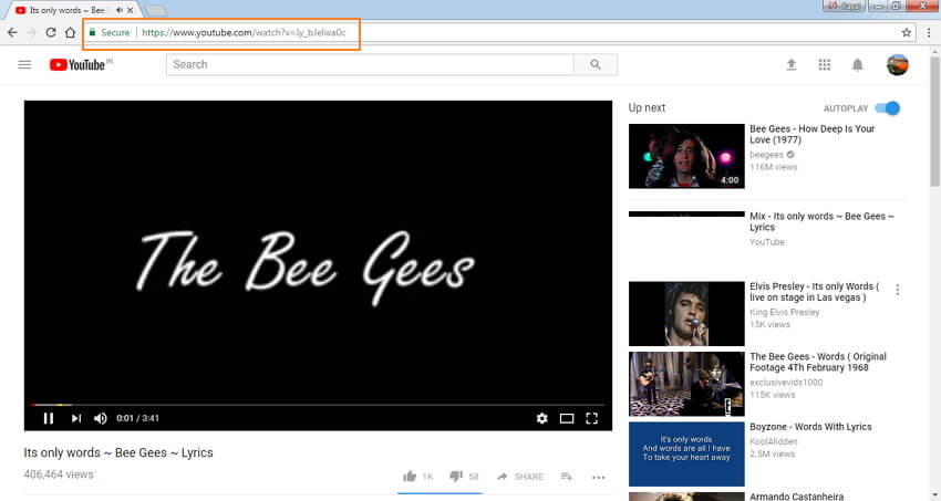 Copy YouTube video URL