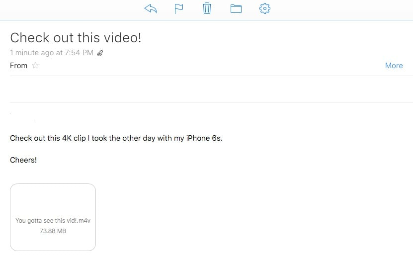 check iPhone Video Sizes