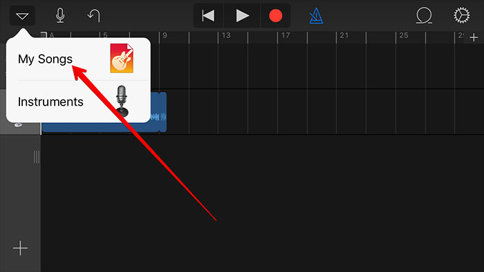 turn mp3 to iphone with garageband-check the ringtone