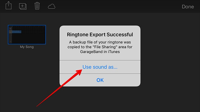 turn mp3 to iphone with garageband-use sound as