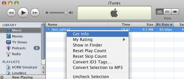 view converted mp3 file