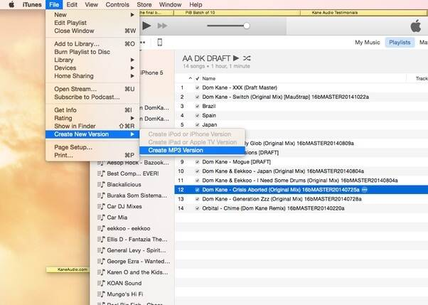 convert m4p to mp3 in itunes