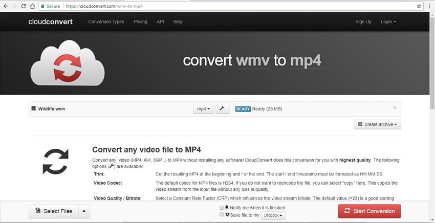 DVR to MP4 converter online