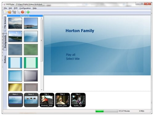 Free DVD Authoring Software DVDStyler