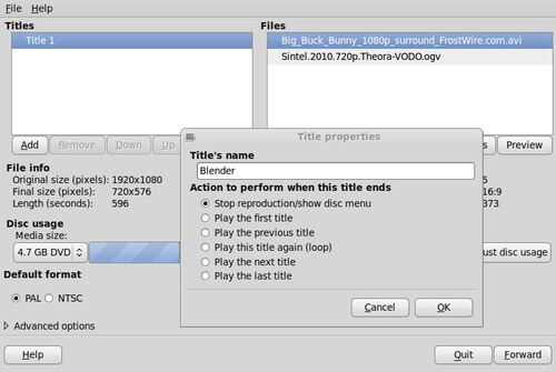 Free DVD Authoring Software DeVeDe
