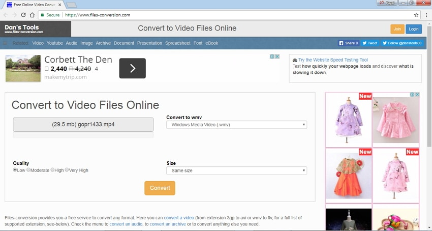 MP4 to WMV online converter Files Conversion