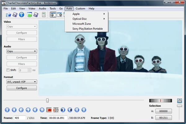 free mp4 encoder Avidemux