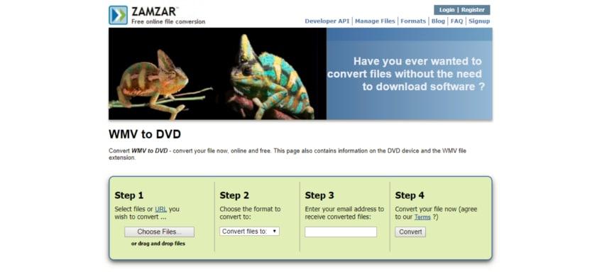 convert wmv to dvd online