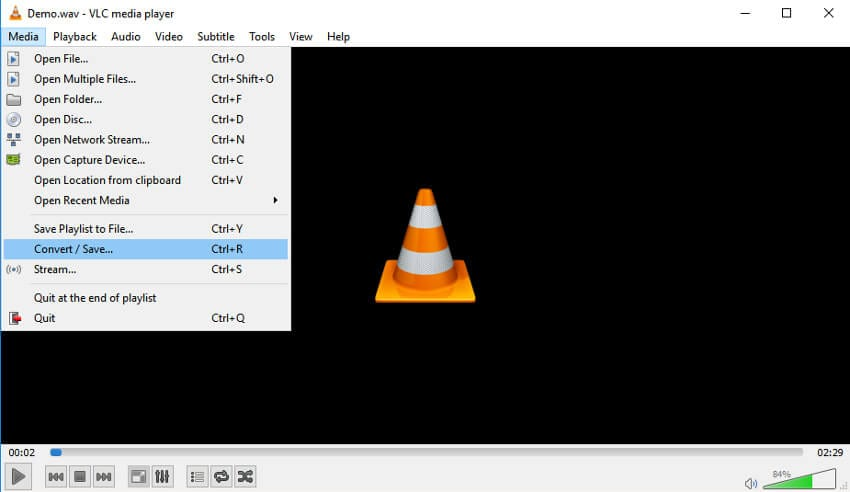 open vlc to convert video