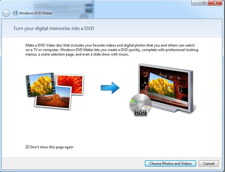 add files to Windows DVD Maker Windows 7